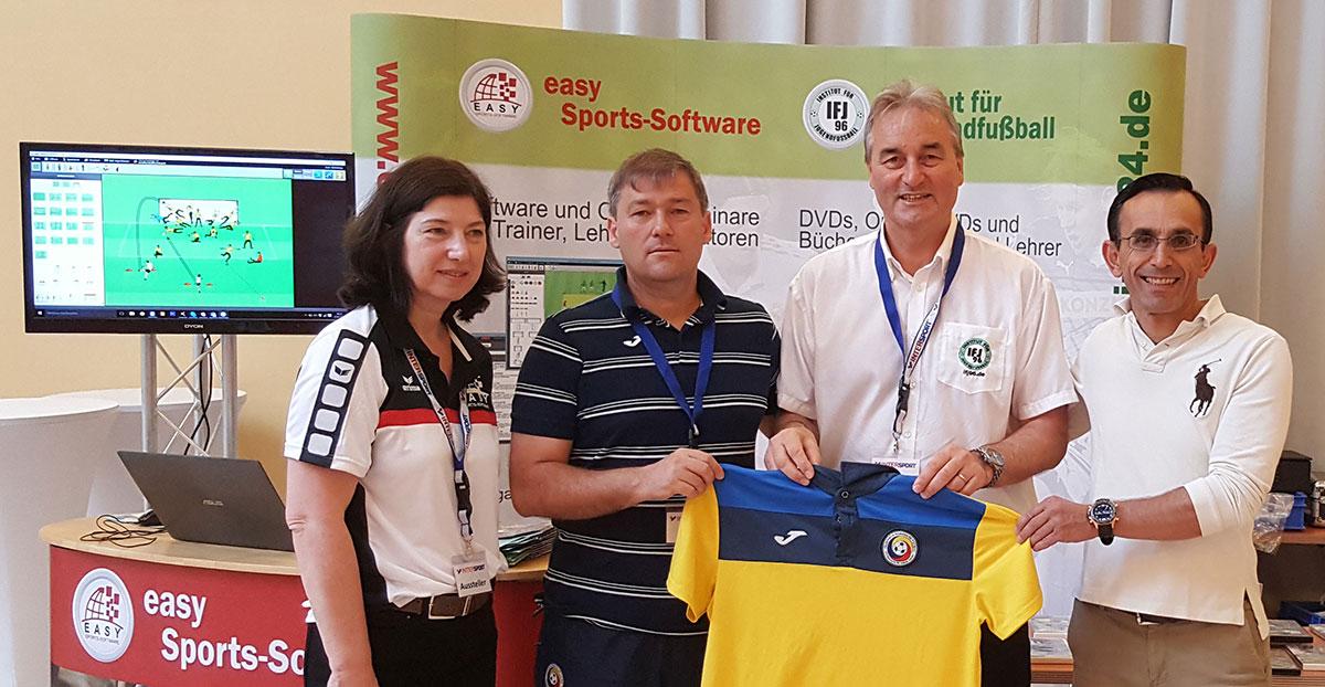 Sandu Tabirca (Ausbildungschef Rumänien) und Christos Papadopolos (Athletiktrainer Rumänische Nationalmannschaft)
