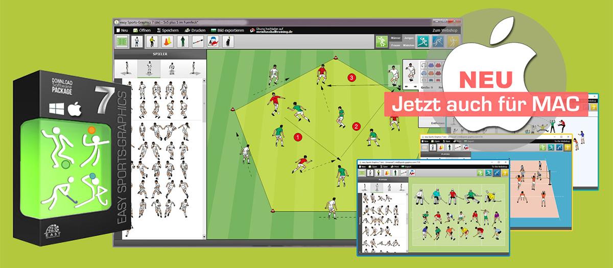 Fussballsoftware easy Sports-Graphics 7 pro für MAC
