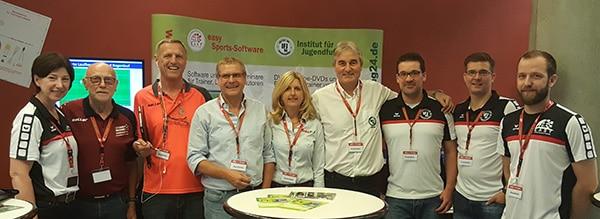 Das Team IFJ96 und easy Sports-Software hier mit Karlheinz Raviol (BDFL) und Richard Saller.