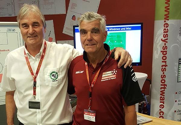 Frank Engel (DFB-Trainer) ist seit Jahren ein ständiger Gast am Stand des Instituts für Jugendfußball/easy Sports-Software.