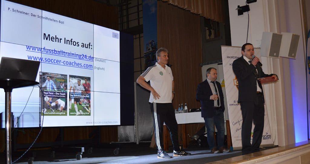 Roman Firlus, OZPN (Fußballverban Oppeln) bei der Verabschiedung am 1. Tag.
