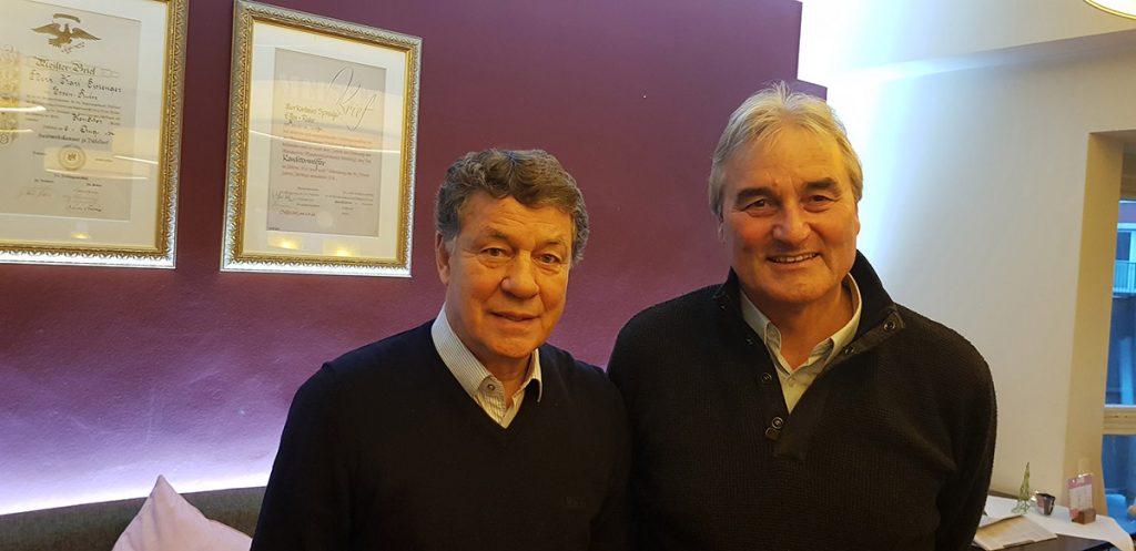 Otto Rehagel und Peter Schreiner