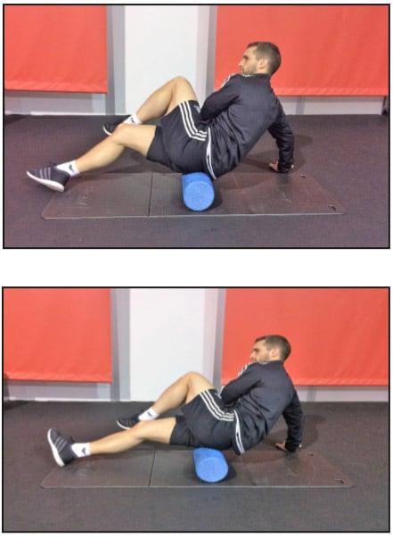 Faszienrolle Übung für die Gesäßmuskulatur
