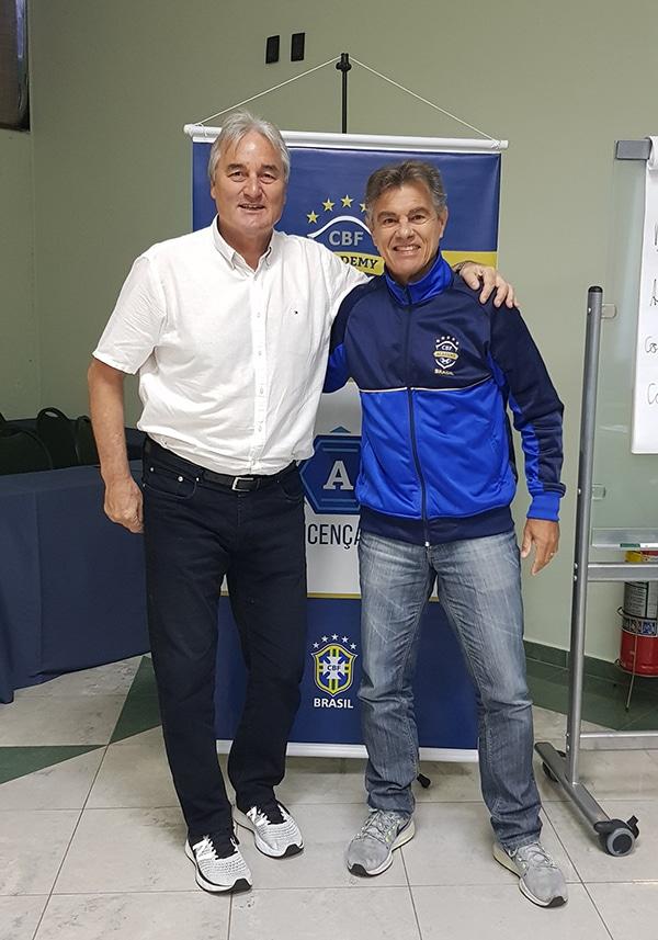 Peter Schreiner hier mit Edinho Nazareth Filho (Teilnehmer an 3 Weltmeisterschaften)