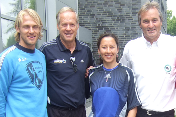 Marco Knoop hier mit Horst Wein, Vanessa Martines und Peter Schreiner auf dem Jugendtrainier-Kongress 2009 in Kaiserau