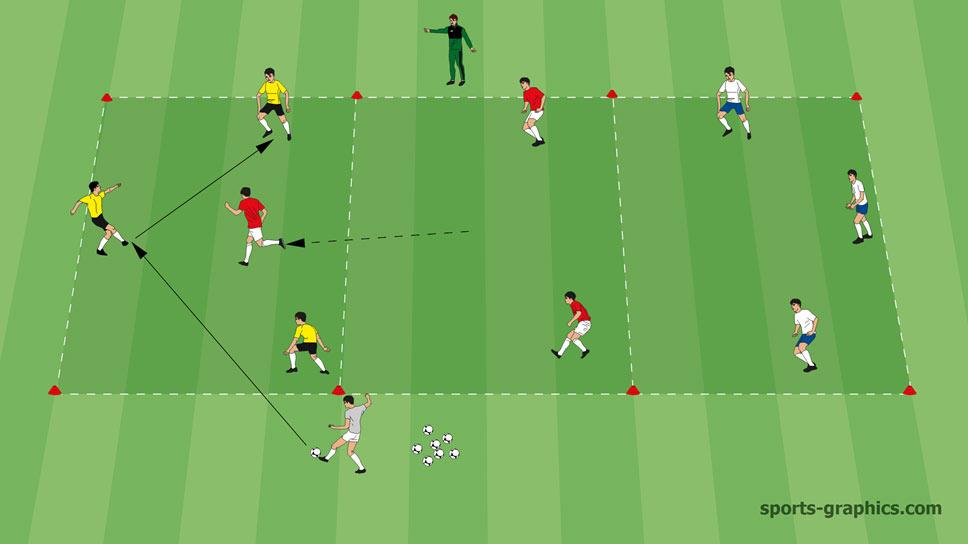 Positionsspiel - 3 gegen 1 drei Farben