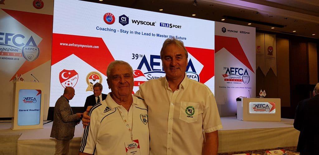 Amon Raz (Israel) und Peter Schreiner nach einem anstrengenden Tag mit interessanten Vorträgen