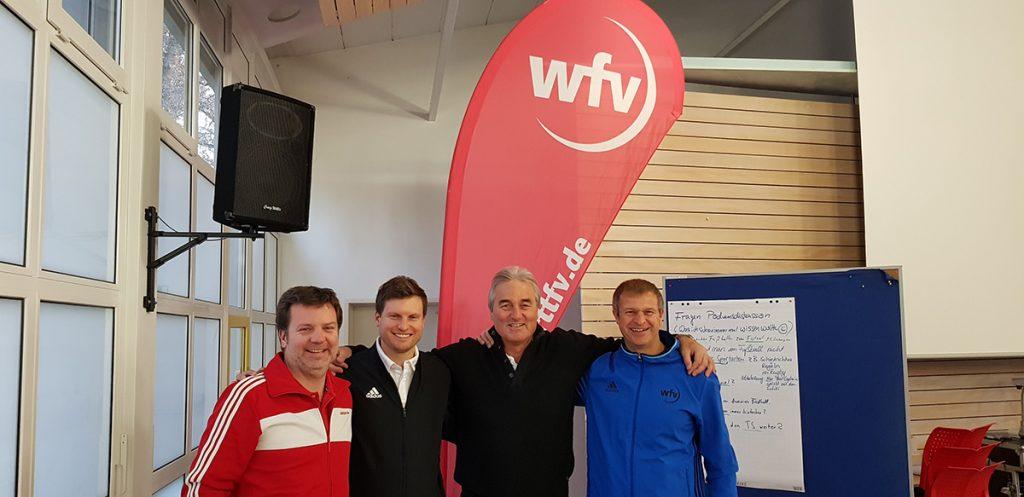 v.l. Florian Frentz, Marc Wörle, Peter Schreiner, Michael Rentschler